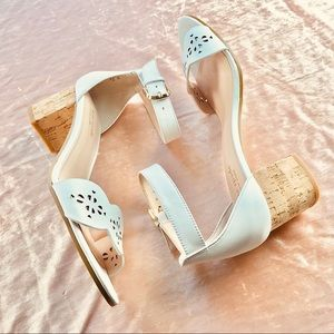 Kate Spade White Willow Heeled Sandals 8